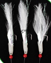 Чепаре Rig4 Mackerel Feathers White/Flashabou 3 #2 Silver Hook