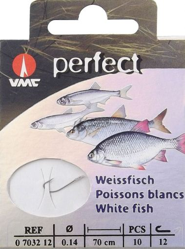 Вързани куки VMC Perfect White fish CRYSTAL за фин риболов на мирни риби.