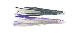 Feather Tuna Teaser 11cm Black/White + Purple/White
