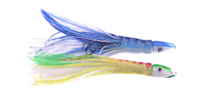 Feather Tuna Teaser 11cm Firetiger/White + Blue/White