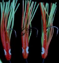 Чепаре Rig10 Octopus 10cm Red/Yellow 0,60mm 2 #3/0 Hooks