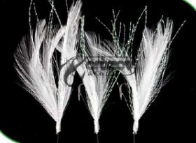 Чепаре Rig4 Mackerel Feathers White/Flashabou 3 #2 Silver Hook