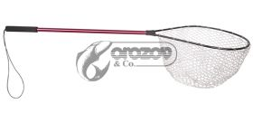 Гумен  кеп Rubber mesh landing net Red