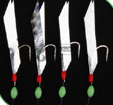Чепаре Rig8 Flasher Rig Silver Reflector 4 #2 Hooks